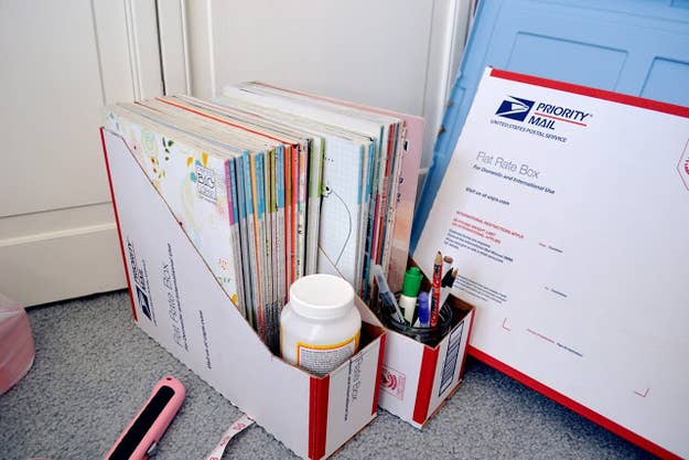 Do it yourself diy priority mail box free at any post office or cereal box easier boxcutter ask permission and guidance scissors decoration solutioingenieria Choice Image