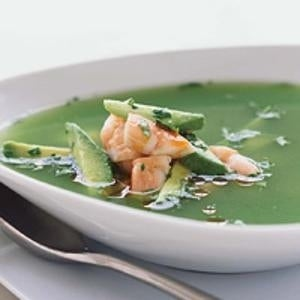 This cooling summer soup can be prepped well in advance of guests' arrival.