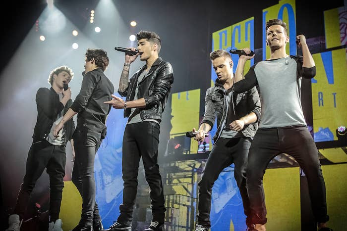 Niall Horan, Zayn Malik, Harry Styles, Liam Payne, and Louis Tomlinson in One Direction: This Is Us