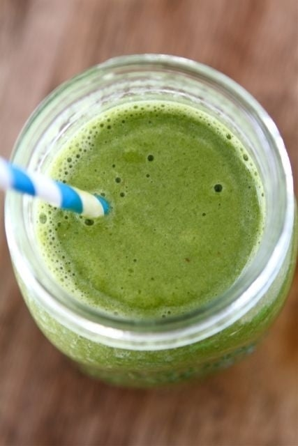 Strawberry Spinach Green Smoothie