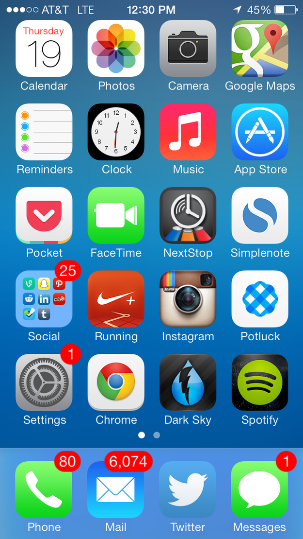 How To Make Your New Ios 7 Home Screen Less Ugly Buzzfeed News
