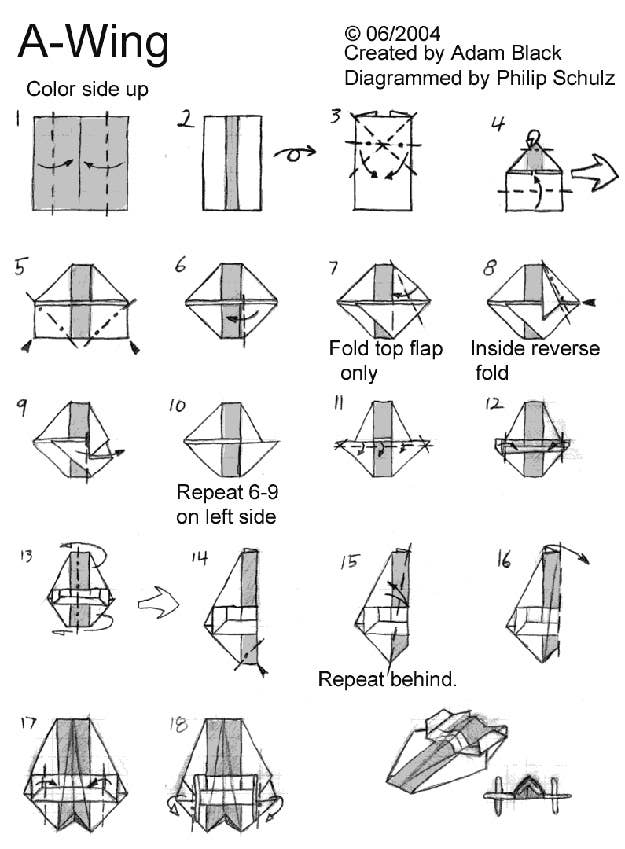 star wars origami clone trooper instructions - Google Search ... | 849x625