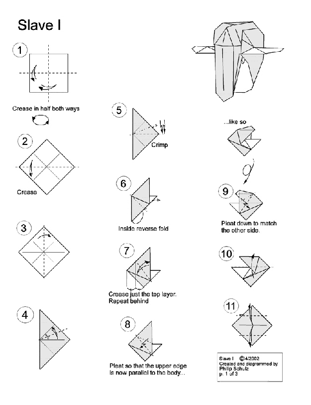 10 diagrams to create your own  u0026quot star wars u0026quot  origami