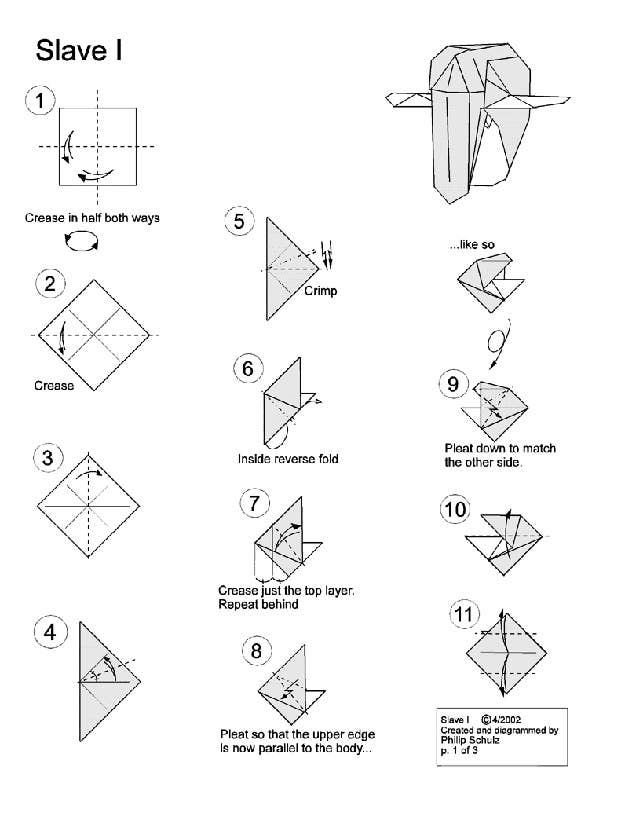10 Diagrams To Create Your Own Star Wars Origami