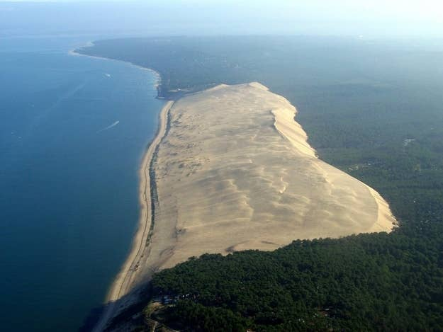 Just 60 km from Bordeaux is the tallest sand dune in Europe. Even though it looks like a flat beach, it's actually 108 meters above sea level.