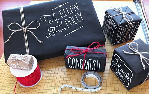 Use Chalkboard Markers On Black Bags Or Paper