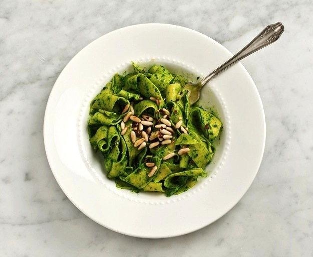 Friday Dinner: Pappardelle With Kale Pesto