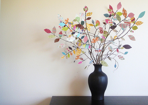 Make a tree out of scrap paper: