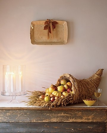 No Thanksgiving would be complete without a festive cornucopia: