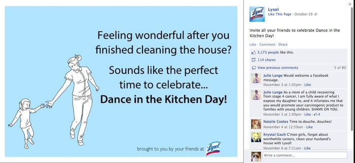 Yes Lysol. Dance. In the kitchen. The FUCKING kitchen. Day.