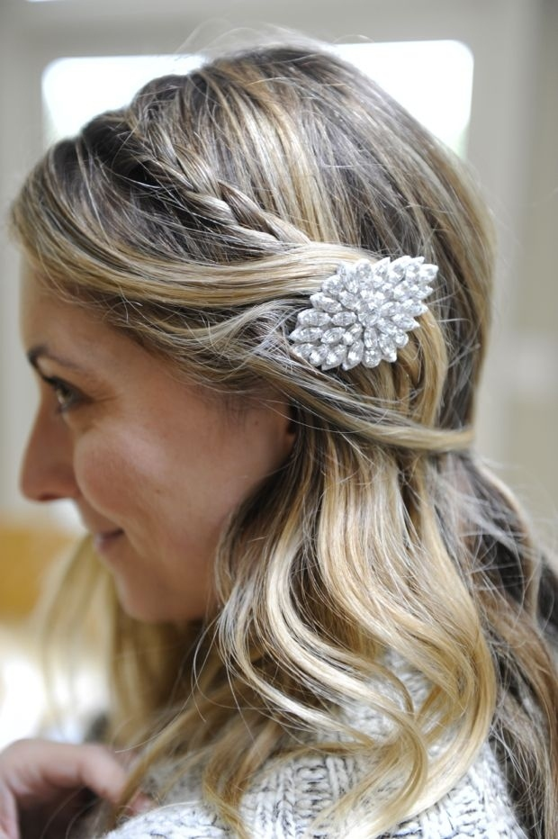 Simple Braid + Statement Hair Clip