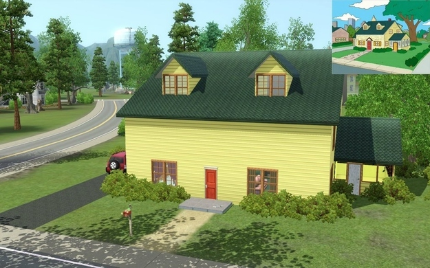 Layout of family guy house