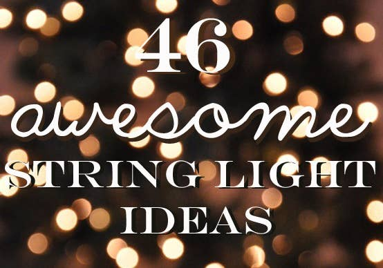 46 awesome string light diys for any occasion share on facebook share solutioingenieria Gallery