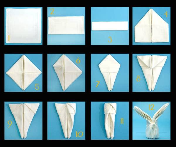 Paper napkin folding instructions – create festive Tischedeko ...   500x600