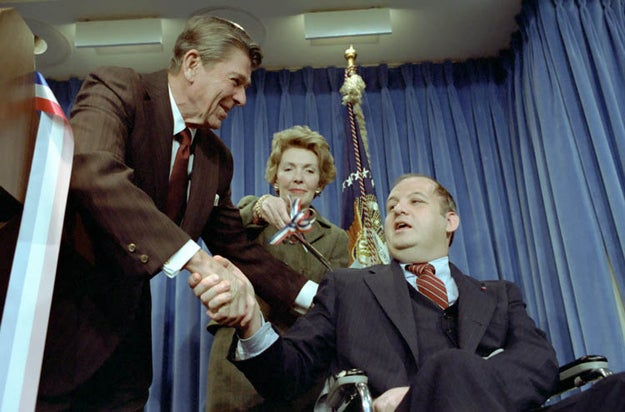 Ronald Reagan with James Brady