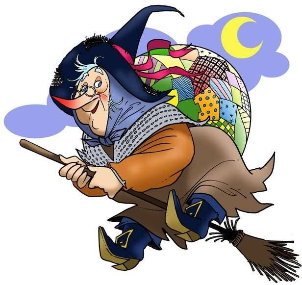 Befana Delivers Presents To Italian Children On January 5th Or Epiphany Eve Usually Portrayed