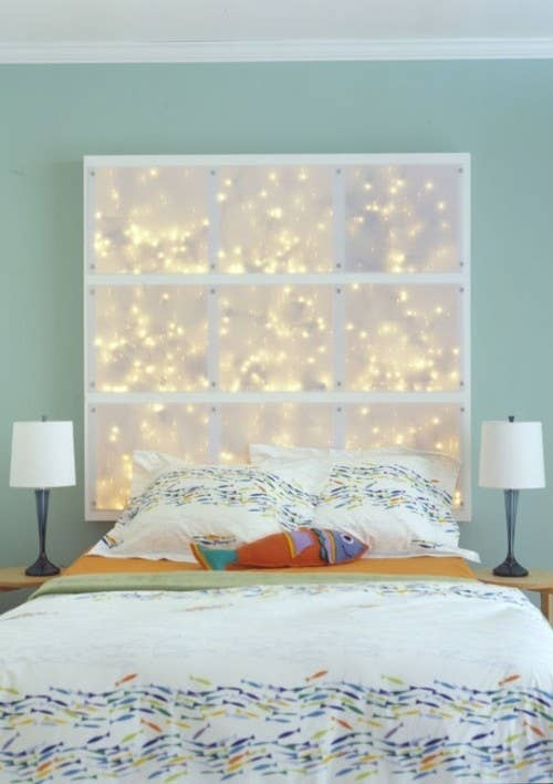Awesome StringLight DIYs For Any Occasion - Cool christmas light ideas for bedrooms