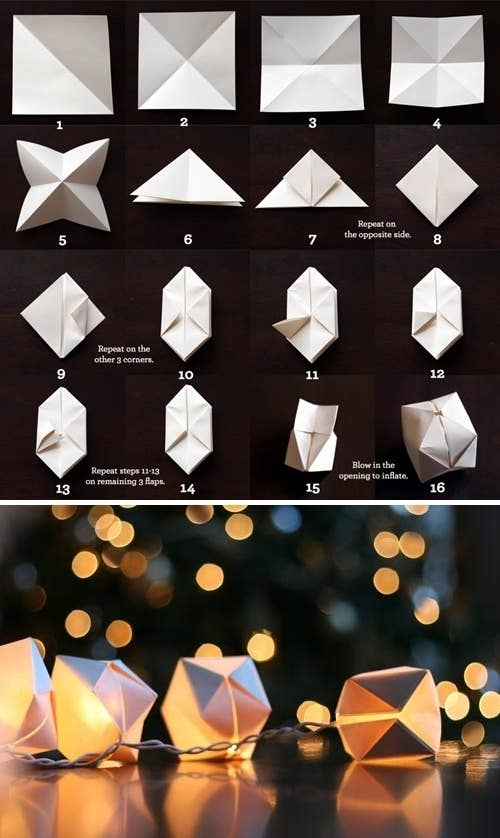 Create a string of paper cube lights