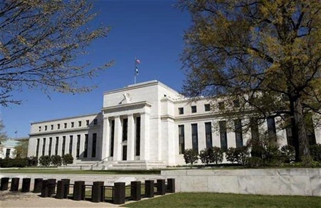 The Federal Reserve Building stands in Washington April 3, 2012.