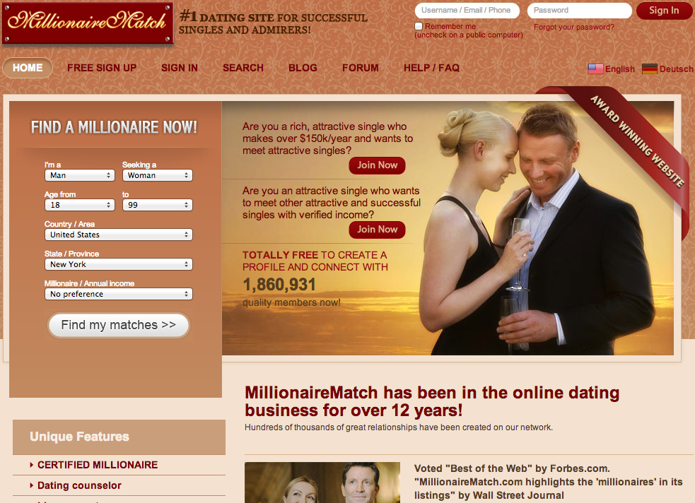 Dating websites net worth