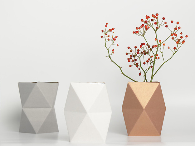 Make simple flowers special with an offbeat vase.