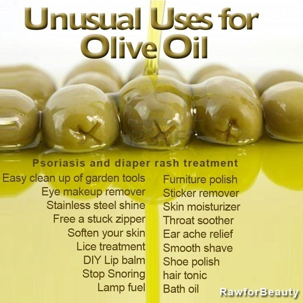 Unusual uses for olive oil.