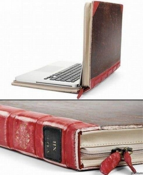 Recycled Book Laptop Case