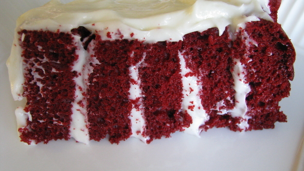 Write a 5 paragraph essay on red velvet cake being the perfect dessert?