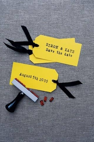 36 cute and clever ways to save the date these are very simple diy save the date cards using giftluggage tags ribbons junglespirit Choice Image