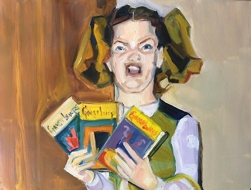 """Ermagerd, 2012Artist Lauren Kaelin calls the project """"An excuse to paint the internet; inspired by Walter Benjamin and the Ikea Monkey."""" You can buy the paintings or check out more of her work here."""