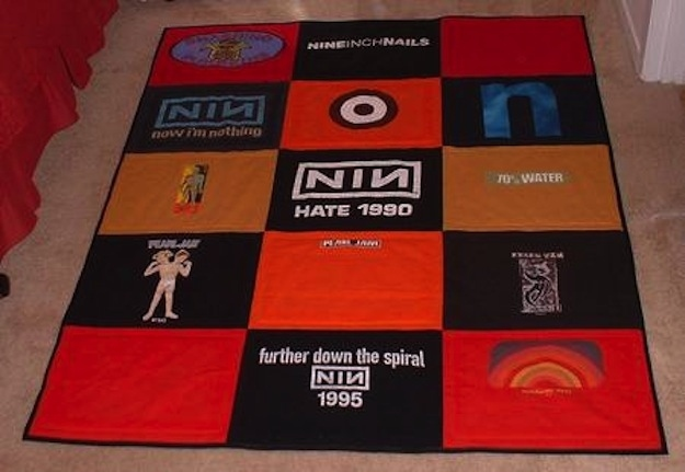 Put them on a concert shirt quilt!