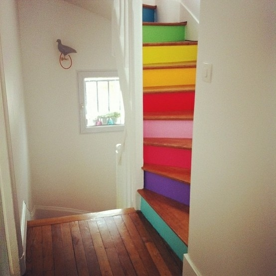 25 Pretty Painted Stairs Ideas: 25 DIY Ways To Update Your Stairs