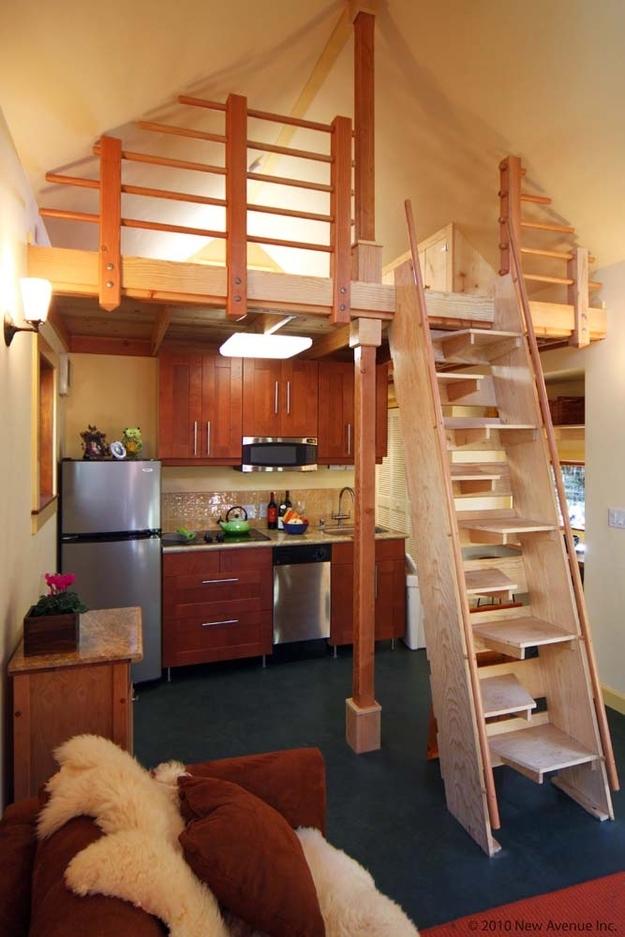 16 spacesaving alternate tread stairs