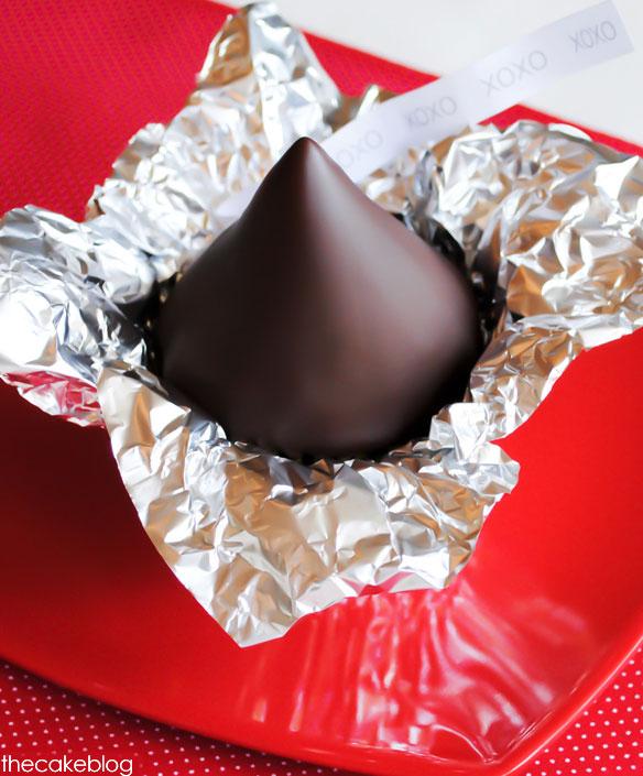 Giant Chocolate Kiss Cupcake