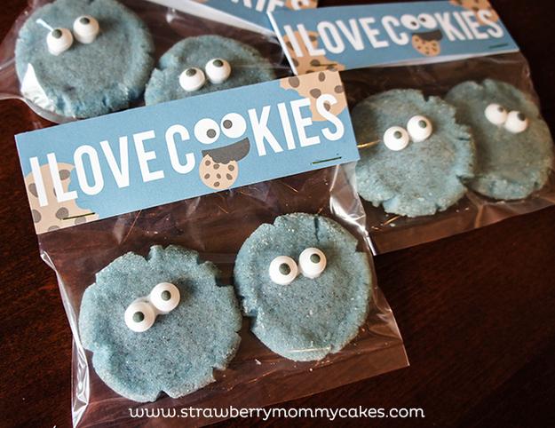 Cookie Monster Valentines