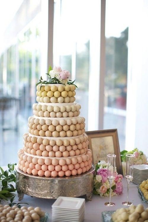 tarta de bodas de cake pops