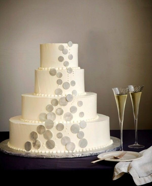 tarta de bodas de burbujas