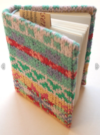 Make book jackets and notebook covers out of your old sweaters.
