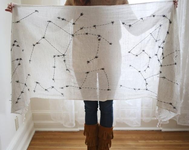 Make a constellation scarf.