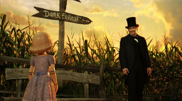 James Franco, as Oz, in a scene from Oz the Great and Powerful.