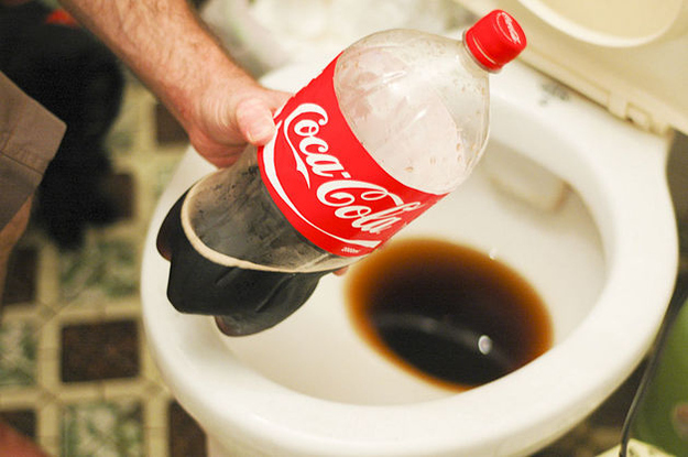 Clean your toilet with Coke.