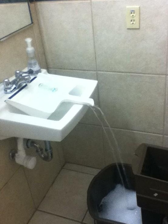 Use a dustpan to fill up a tub of water for mopping.