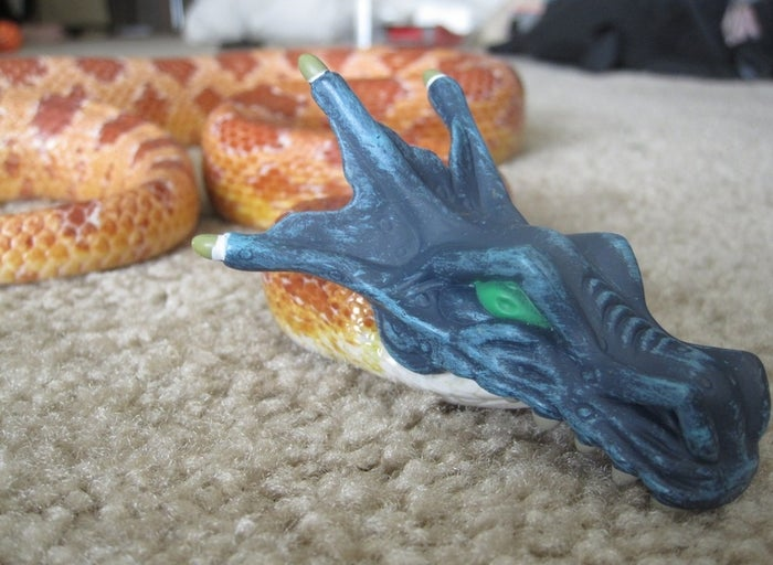 "Back up plan: ""Oh, I'm not a snake, sir. I'm a very long dinosaur."""