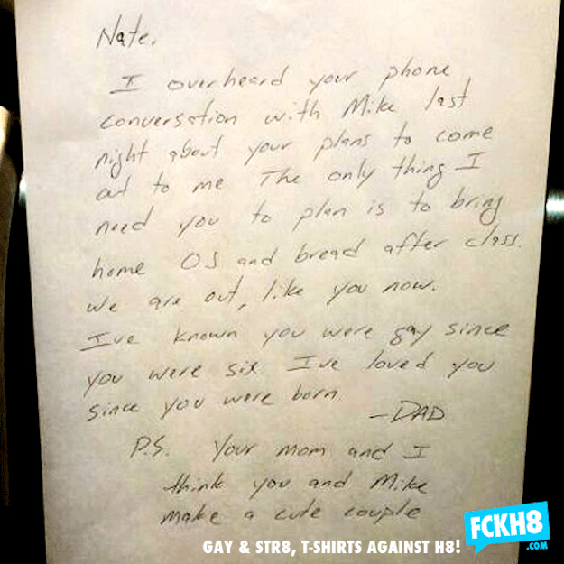 dad writes heartwarming letter to son struggling to come out