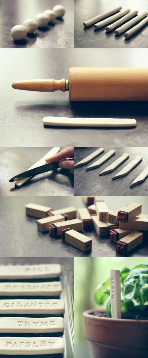 FInd out how to make your own clay garden markers here.