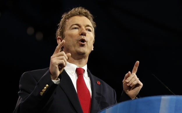 Senator Rand Paul of Kentucky speaks at the Conservative Political Action Conference (CPAC) at National Harbor, Maryland, March 14, 2013.