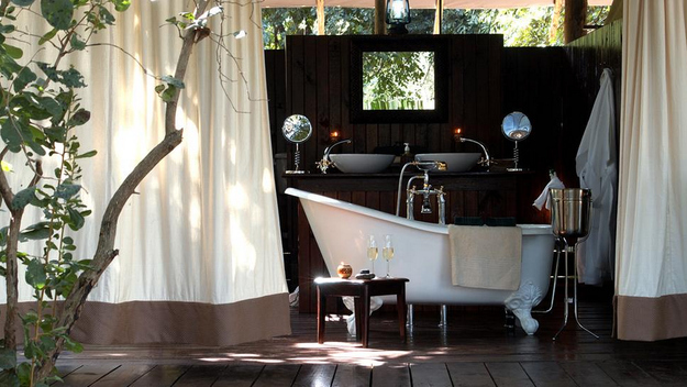 An Outdoor Bathtub