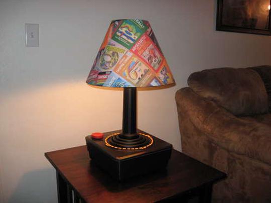 6. Giant Atari Joystick Lamp