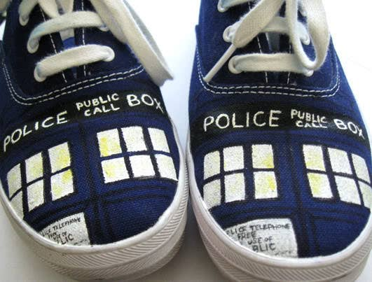 Now you can own your very own TARDIS...shoes. Directions here.