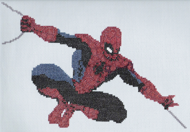 12. Spiderman Cross Stitch